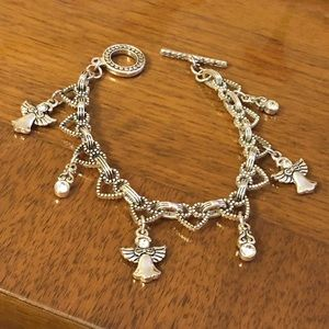 Jewelry - Women's 8 inch silver bracelet angel charms